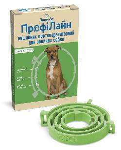 Нашийник Профілайн Природа від бліх і кліщів для собак 70 см зелений