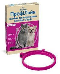 Нашийник Профілайн Природа від бліх і кліщів для собак 35 см фуксія