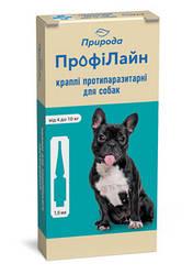 Краплі Профілайн Природа на холку від бліх і кліщів для собак 4-10 кг