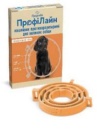 Нашийник Профілайн Природа від бліх і кліщів для собак 70 см помаранчевий