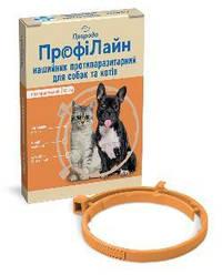 Нашийник Профілайн Природа від бліх і кліщів для собак 35 см помаранчевий