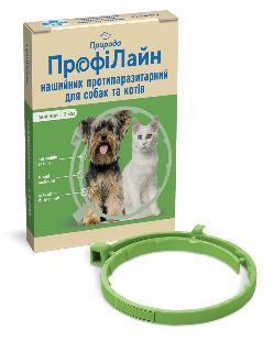 Нашийник Профілайн Природа від бліх і кліщів для собак 35 см зелений