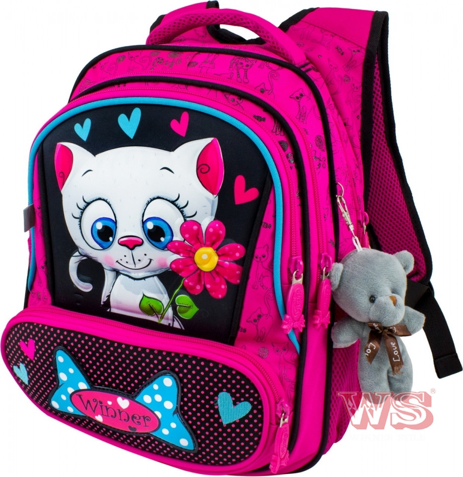 Рюкзак школьный для девочки Winner Stile Розовый 8030