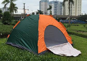 Палатка-автомат 4-местная 205х205х135 см, семейная туристическая палатка четырехместная  автоматическая