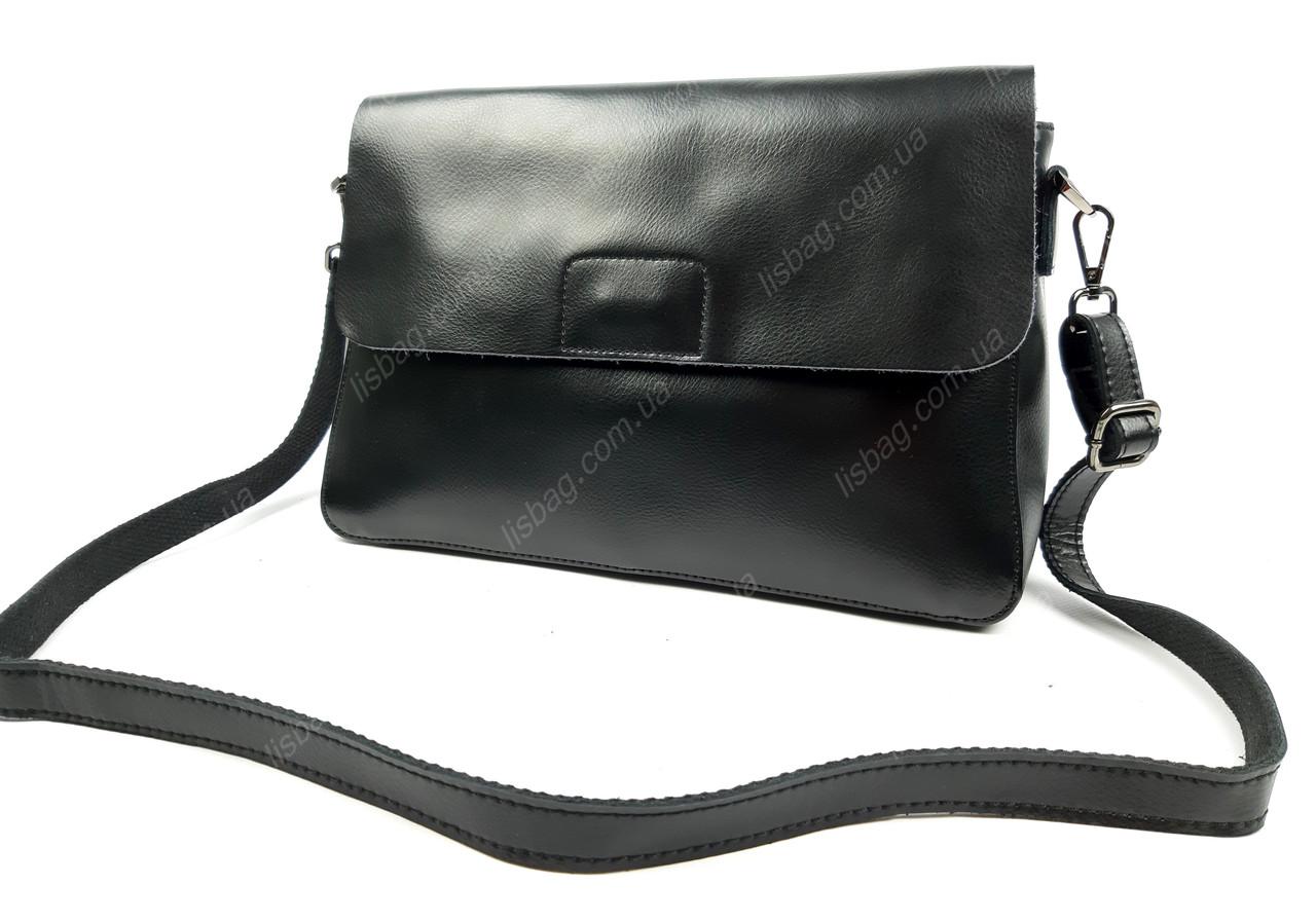 1a5fa123cbc2 Женская сумка из качественной натуральной кожи Черная - Интернет магазин  Lisbag в Умани