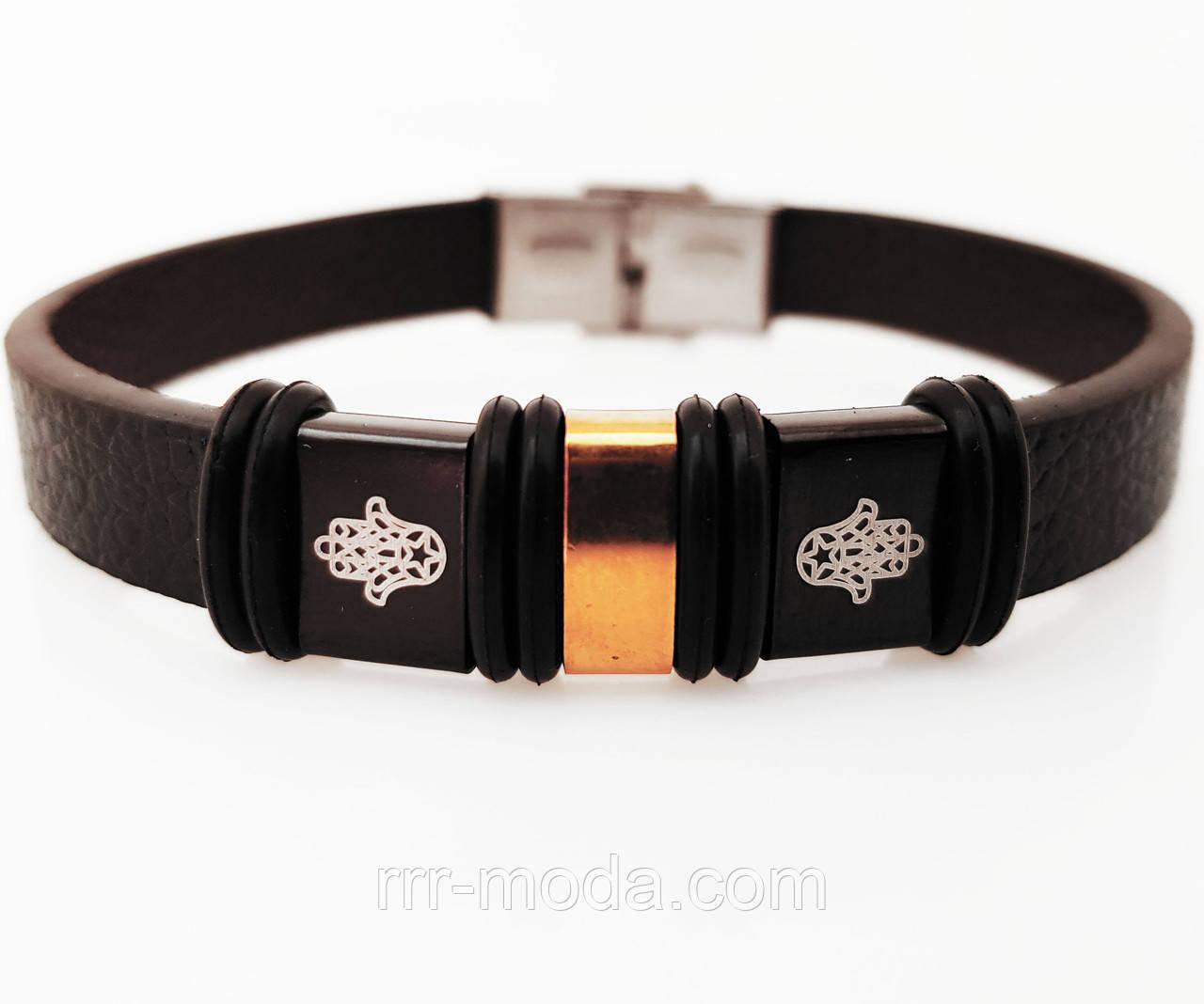 Браслеты мужские каучуковые и кожаные, браслеты с нержавеющей сталью оптом 232