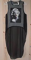 Оригинальные майки со шлейфом, фото-принт