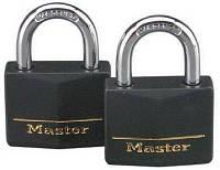 Навесной замок Master Lock латунный влагостойкий 2 шт
