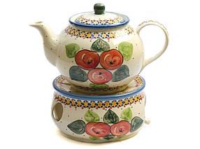 Заварочный керамический чайник 1L Яблука наливні, фото 3