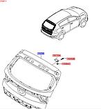 Кришка багажника кіа Спортейдж 4, KIA Sportage 2019-20 QLe, 73700f1000, фото 4