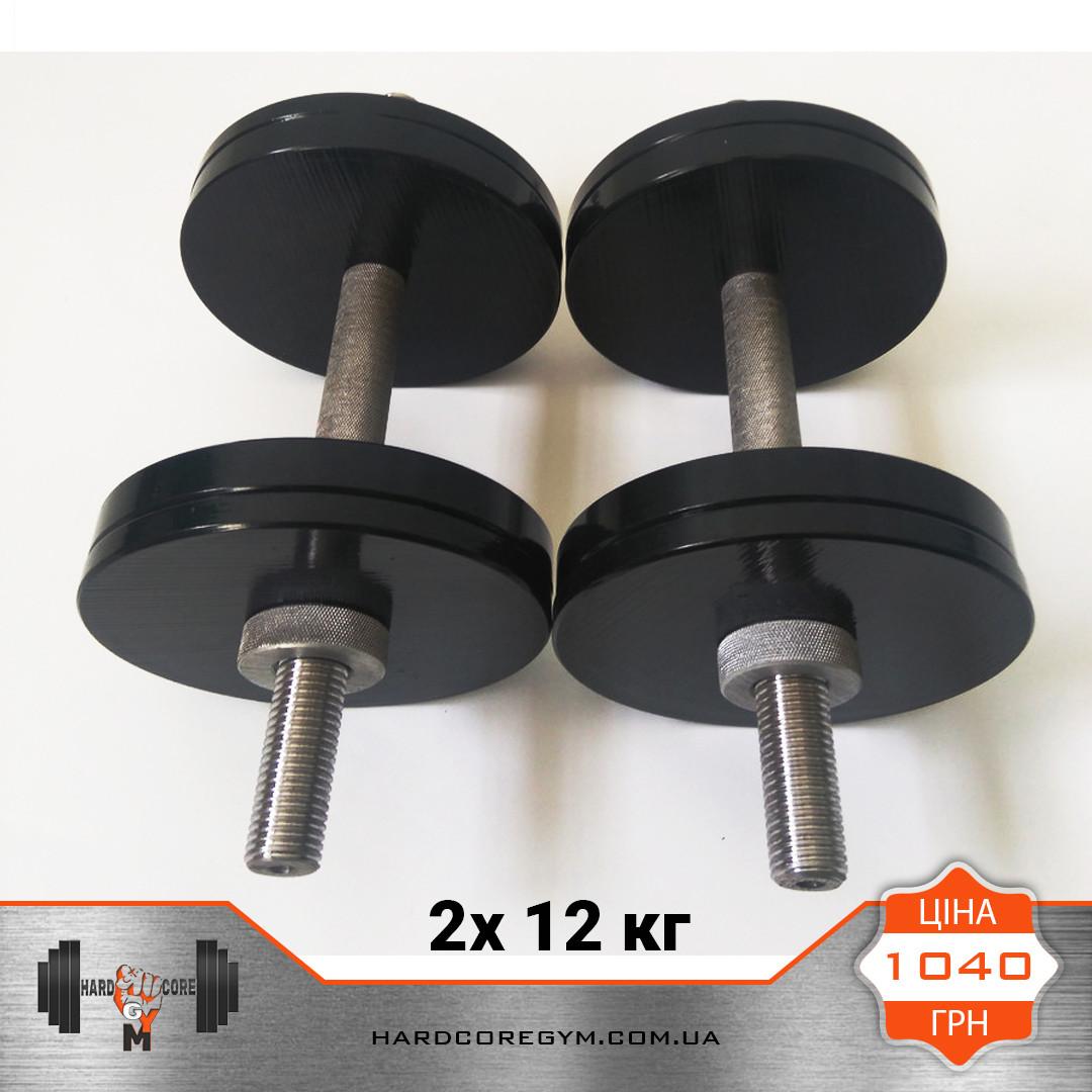 Гантели металлические 12 кг х2