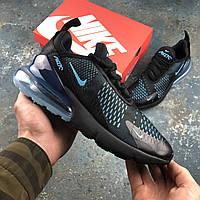✔️ Кроссовки мужские Nike Air Max 270 Black\Blue - Найк Аир Макс
