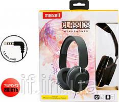Дротові навушники Maxell Classics Headphones Black (4902580774950)