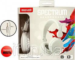 Наушники проволочные Maxell Spectrum Hp White (4902580770815)