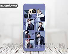 Силиконовый чехол для Samsung J700H Galaxy J7 (BTS группа), фото 2