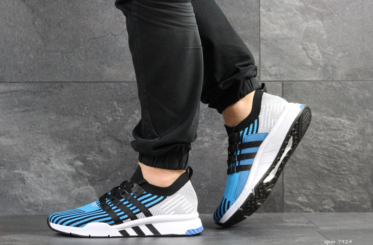 Кроссовки мужские Adidas Equipment adv 91/18,голубые с серым 45р