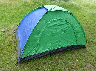 Палатка 3х-местная 200х150х110 см см, трехместная палатка туристическая для кемпинга