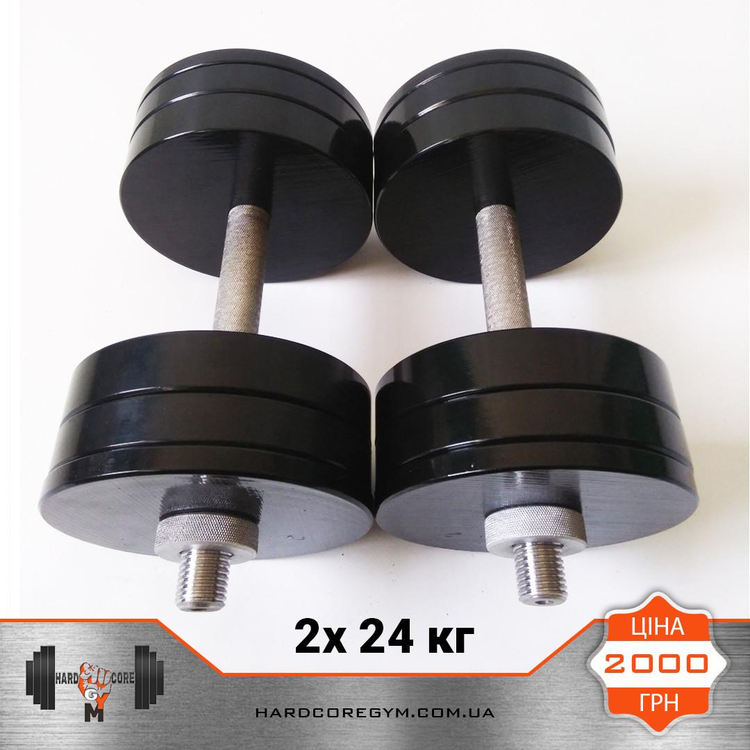 Гантели металлические 24 кг х2