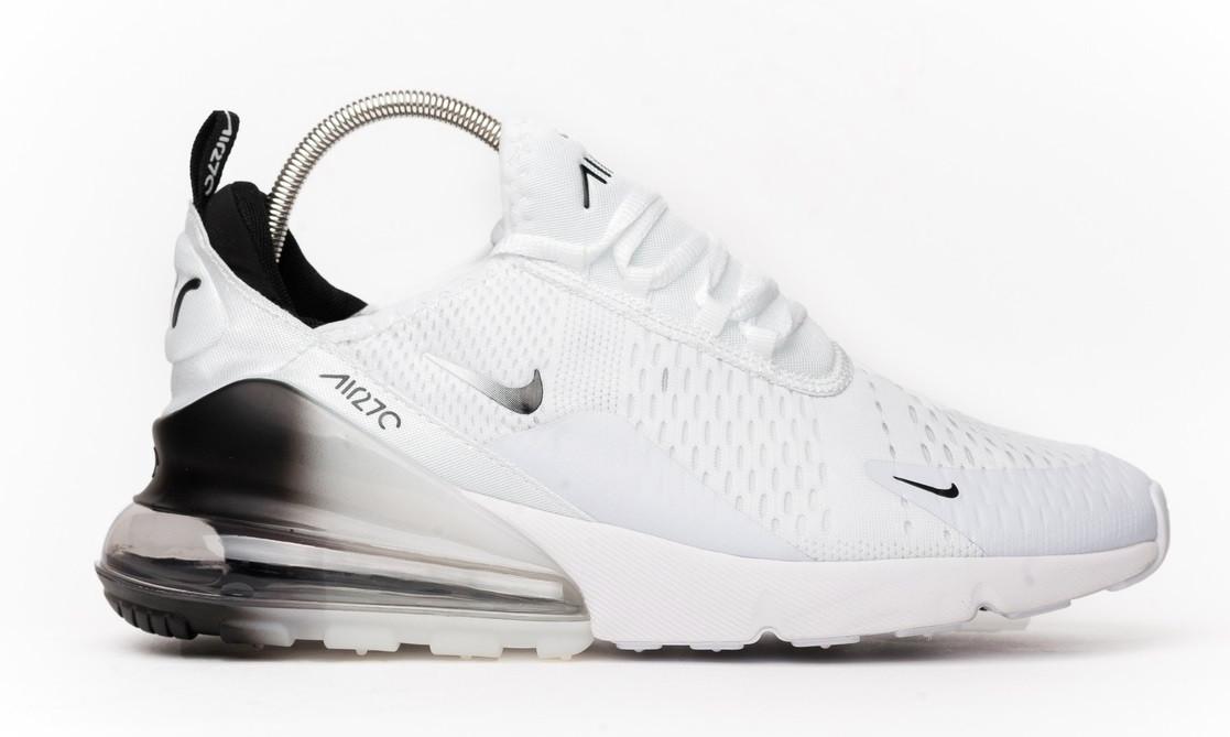 0ede1765c Мужские кроссовки Nike Air Max 270 White Black (найк аир макс 270, белые /