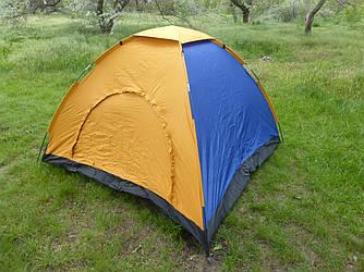 Палатка 4х-местная 205х205х140 см, большая четырехместная палатка туристическая для отдыха на природе