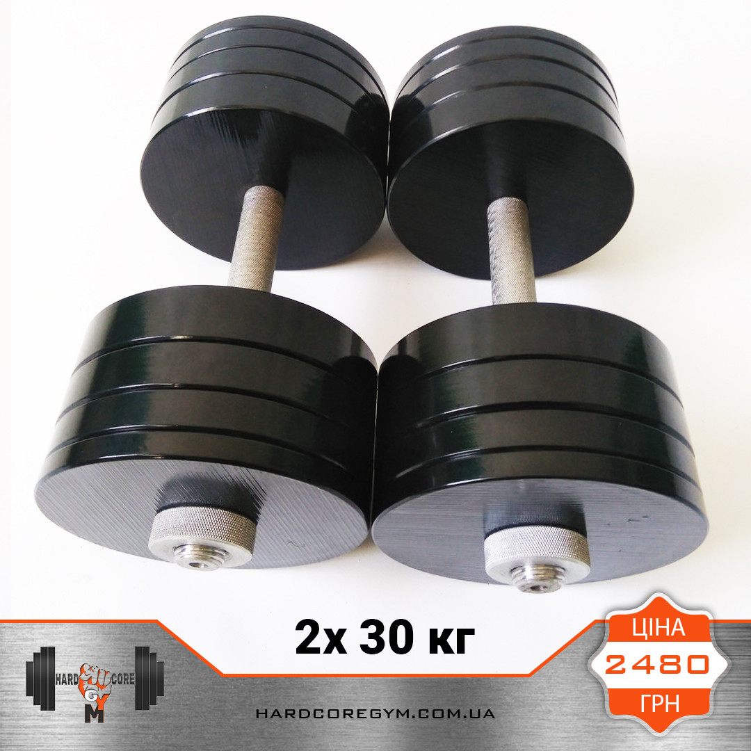 Гантели металлические 30 кг х2