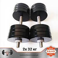 Гантелі металеві 2х 32 кг