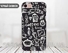 Силиконовый чехол для Apple Iphone 5c (Coffee Time), фото 3