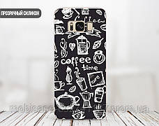 Силиконовый чехол для Huawei Y7 Prime (Coffee Time), фото 3