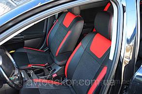 Чехлы на сиденья Leather Style для Chevrolet Spark 2016- г. MW Brathers.