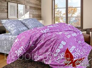 Комплект постельного белья с компаньоном R7207violet