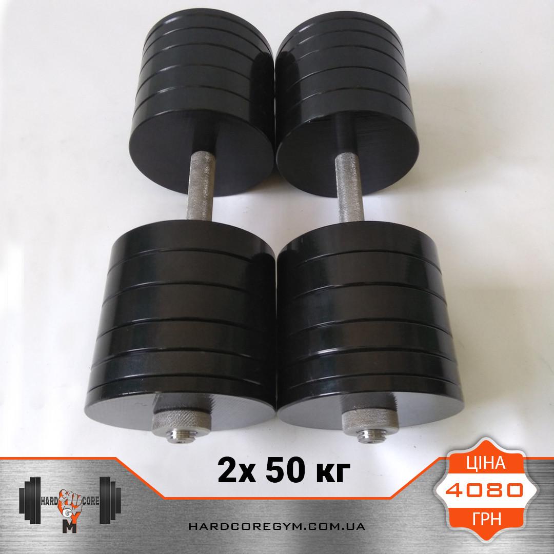Гантели металлические 50 кг х2