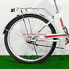 Складной велосипед Салют 2409 бело-красный, фото 5