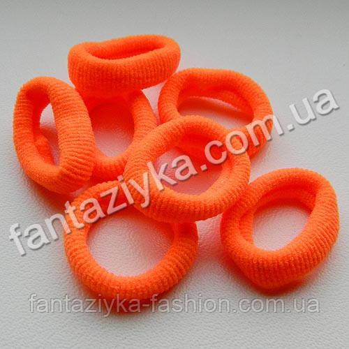 Маленькая резиночка из микрофибры 20мм, оранжевая