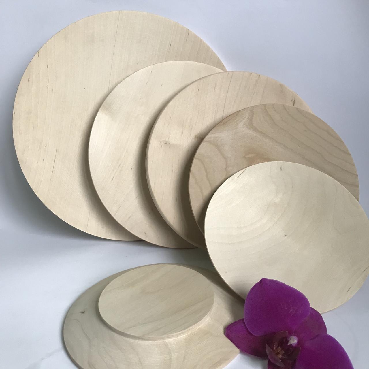 Тарілки дерев'яні плоскі 18см.