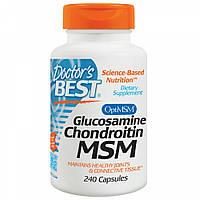 Препарат для восстановления суставов и связок Doctor's Best Glucosamine & Chondroitin MSM (240 капс)