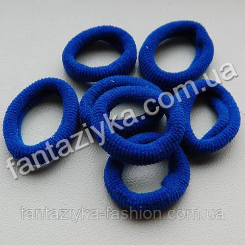 Маленькая резиночка из микрофибры 20мм, синяя