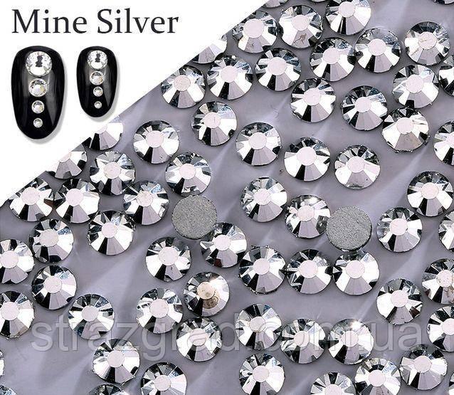 Клейові стрази Premium Silver SS20 Non-hot Fix 1440 шт. Стрази холодної фіксації