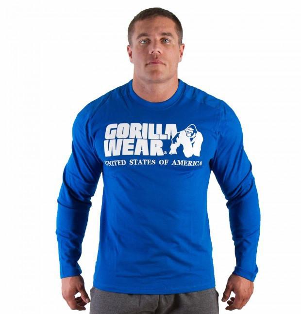 Футболка Gorilla wear Rubber printed longsleeve (Blue)