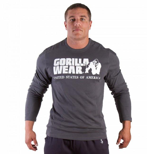 Футболка Gorilla wear Rubber printed longsleeve (Gray)