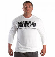 Футболка Gorilla wear Rubber printed longsleeve (White)