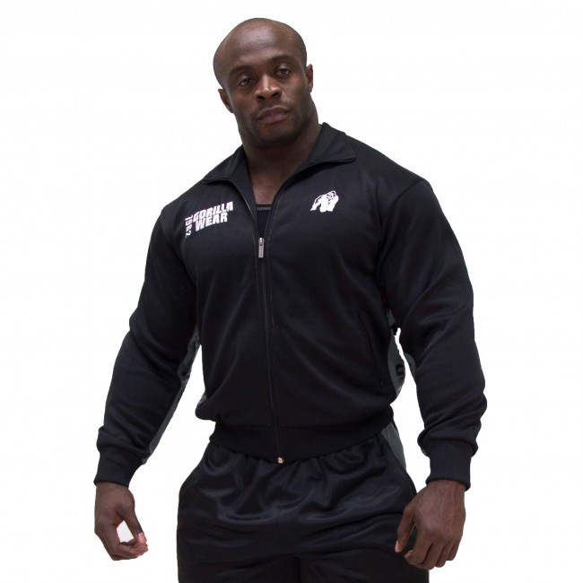 Куртка Gorilla wear Track Jacket (Black/Grey)
