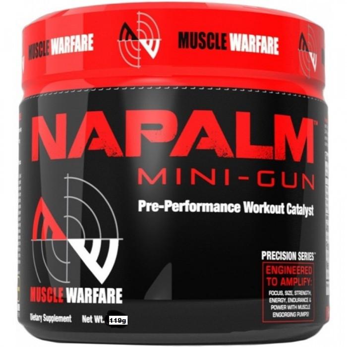 Предтренировочный комплекс Muscle Warfare Napalm Mini-Gun(30 порций)