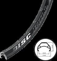 Обод 700c-32-AV Weinmann - Disc Bull Чёрный Пистонированный 622x24