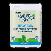 Низкокалорийный заменитель сахара NOW Better Stevia instant tabs (175 таб)