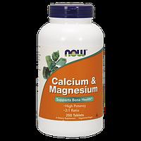Минеральный комплекс кальция и магния NOW Calcium & Magnesium (250 таб)