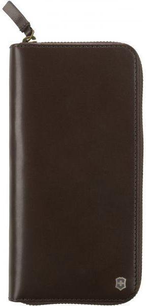 Кожаное портмоне Victorinox Travel коричневый