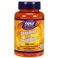 Аминокислоты NOW Arginine & Ornithine (100 капс)