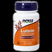 Препарат для поддержки органов зрения NOW Lutein 10 мг (60 капс)