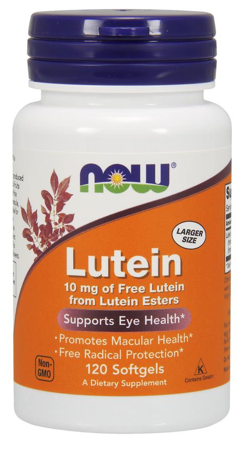 Препарат для улучшает работы глаз NOW Lutein (120 капс)