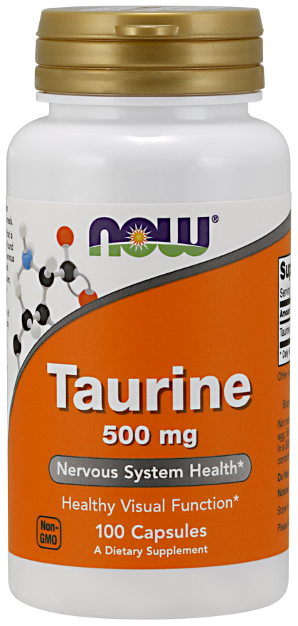 Аминокислоты NOW Taurine 500 мг (100 капс)